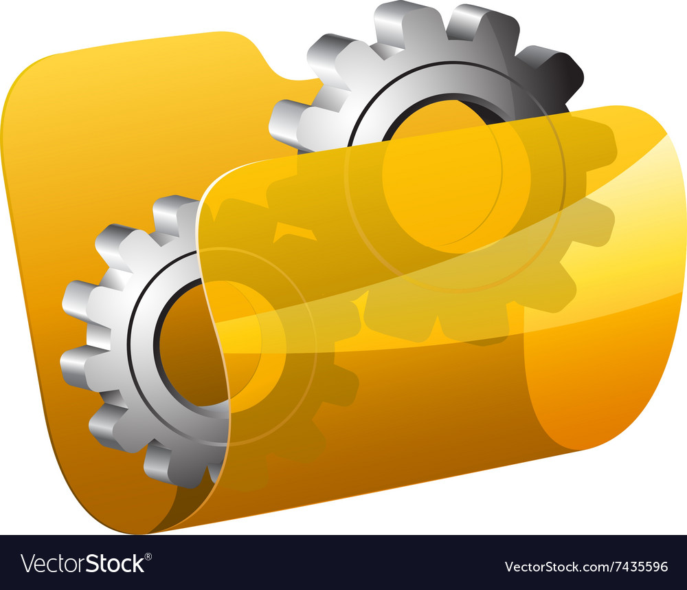 Settings folder vector image