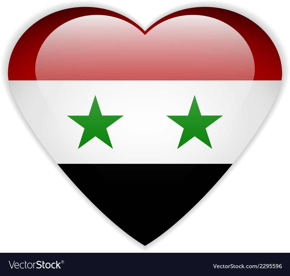 Syria Flag Button Royalty Free Vector Image VectorStock - Syria flag