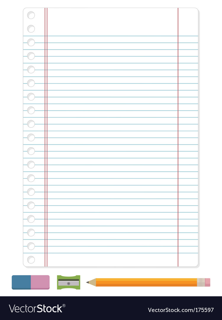 Lined paper Vector Image