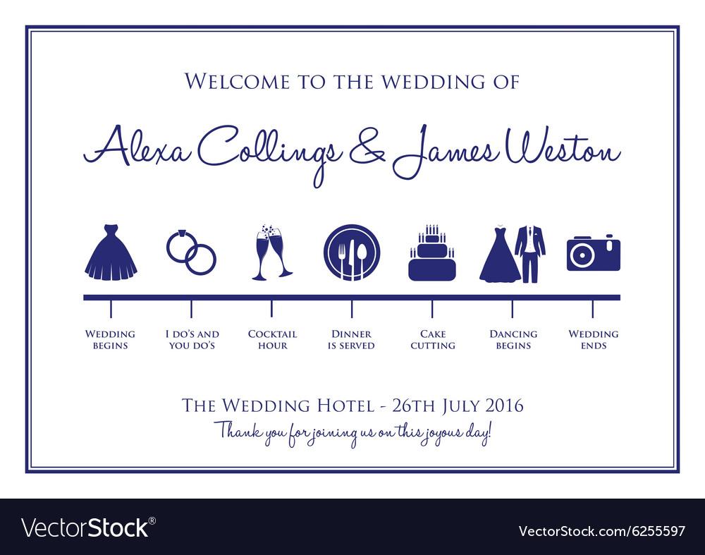 Captivating Wedding Timeline Vector Image
