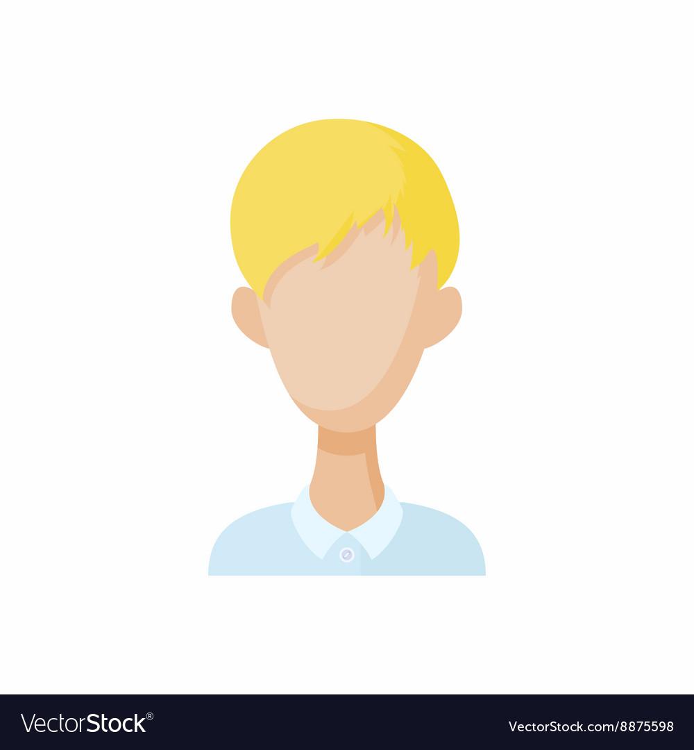 Avatar blond men icon cartoon style vector image