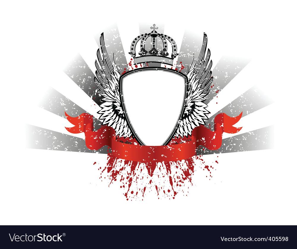 Grunge heraldry vector image