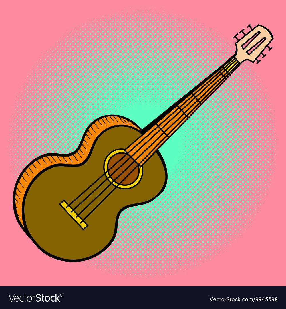 Guitar Pop art vector image