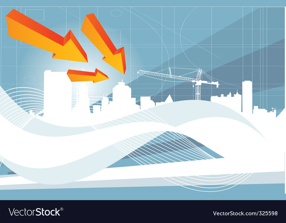 Industrial city vector image