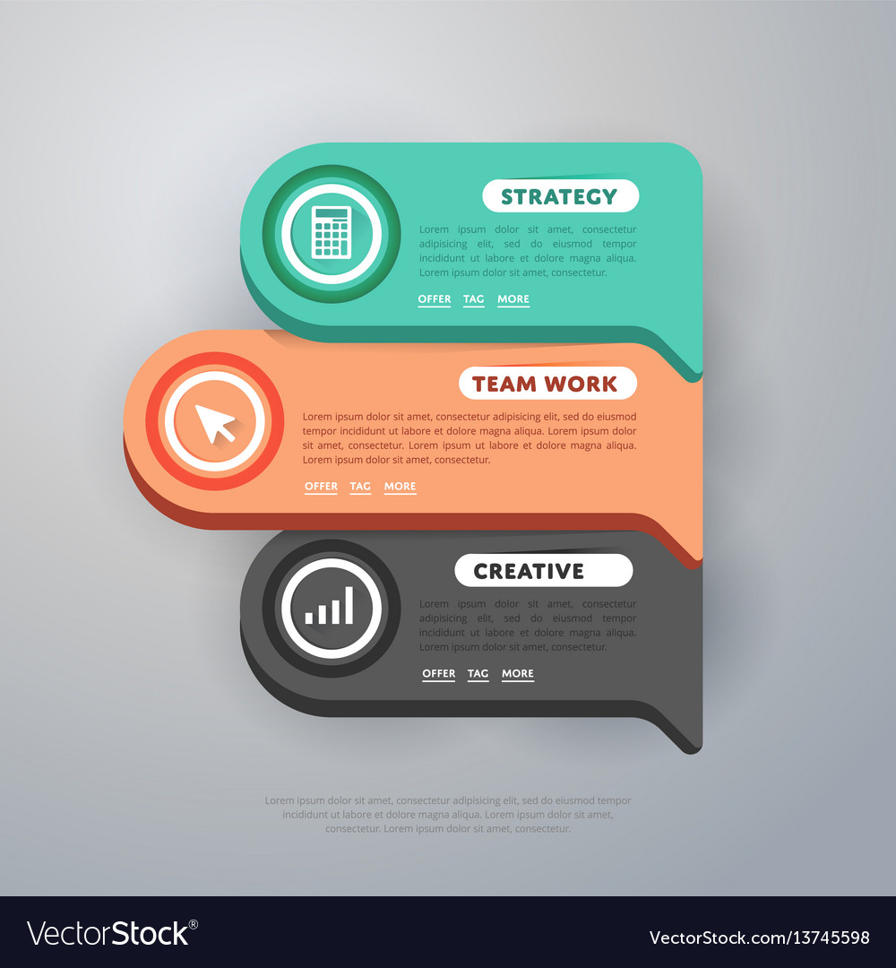 Infographics elements template vector image