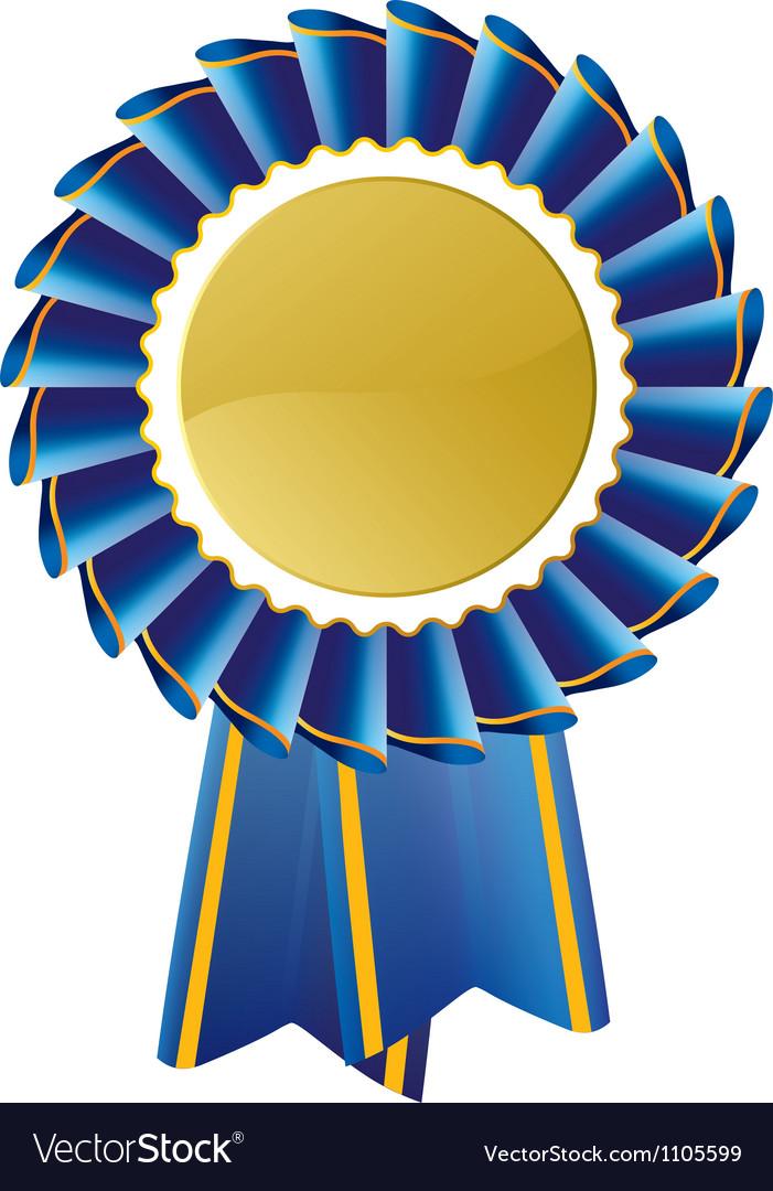 Blue rosette vector image