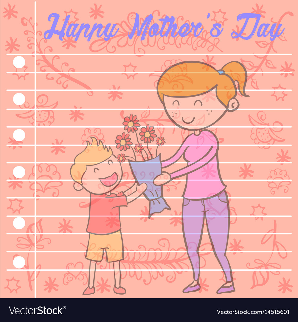Collection of mother day greeting card vector image