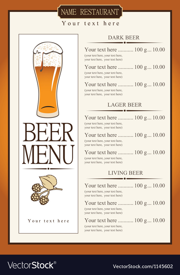 Living beer vector image