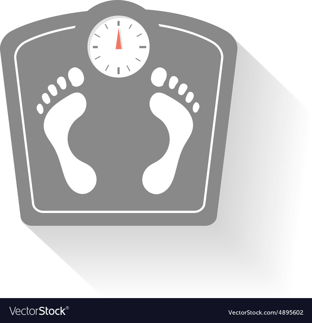 Bathroom scales icons set Weight control signs vector image