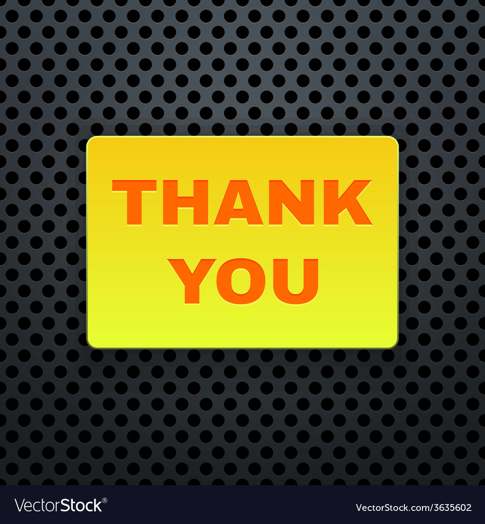 Thank You Banner vector image