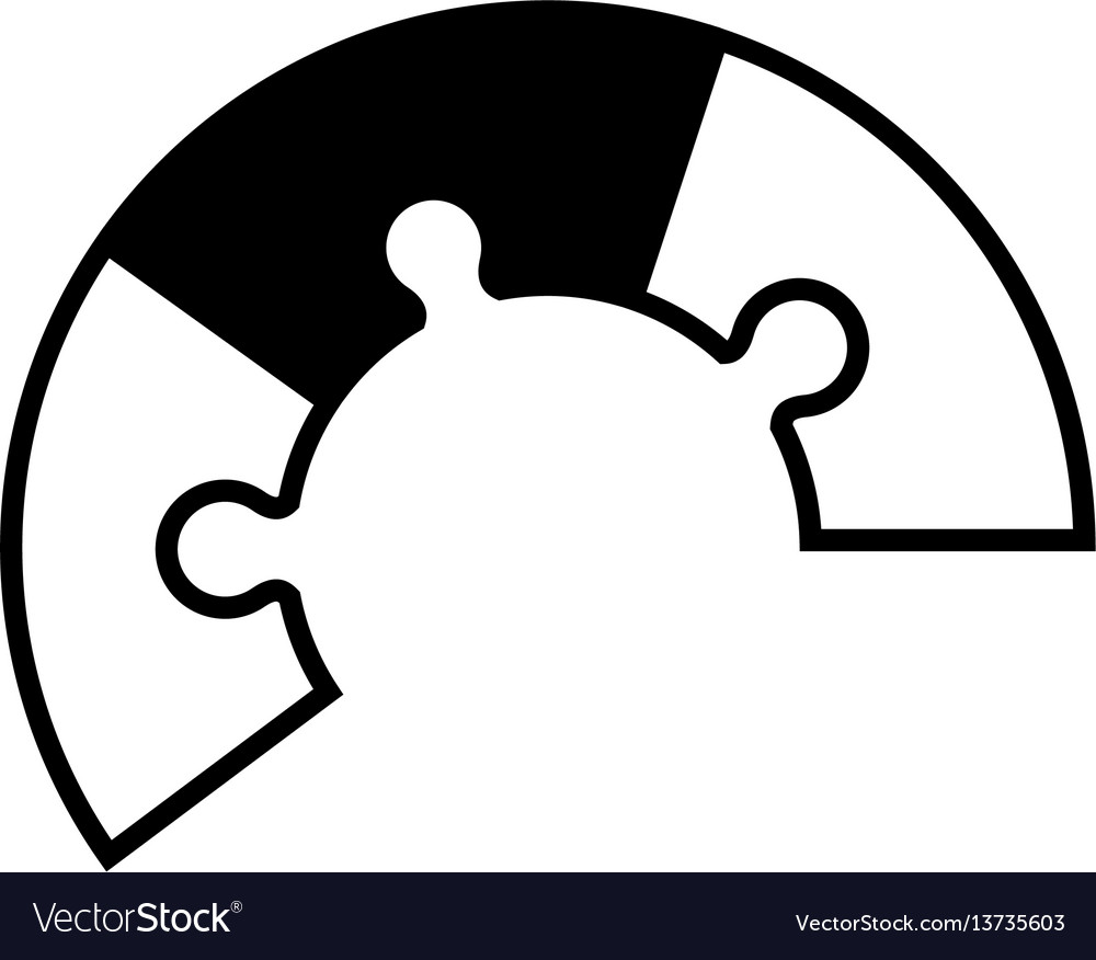 Puzzle pieces jigsaw concept vector image
