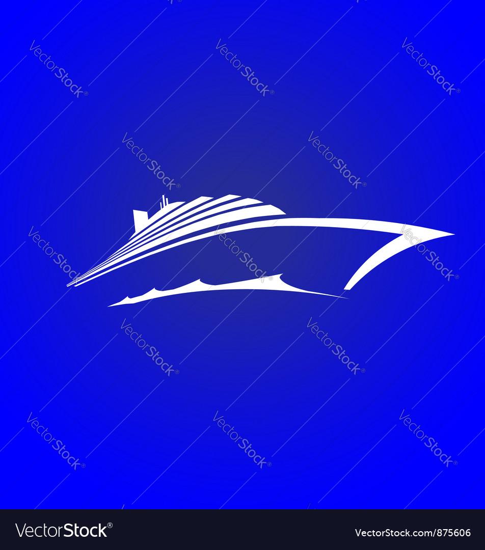 Sea Cruise vector image