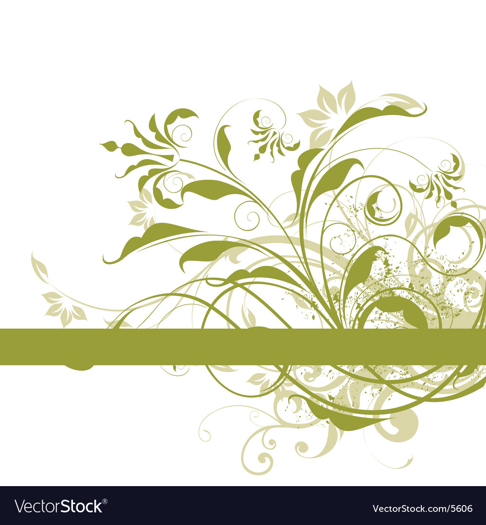 Green floral design vector graphic free vector graphics all free - Abstract Floral Design Vector Image