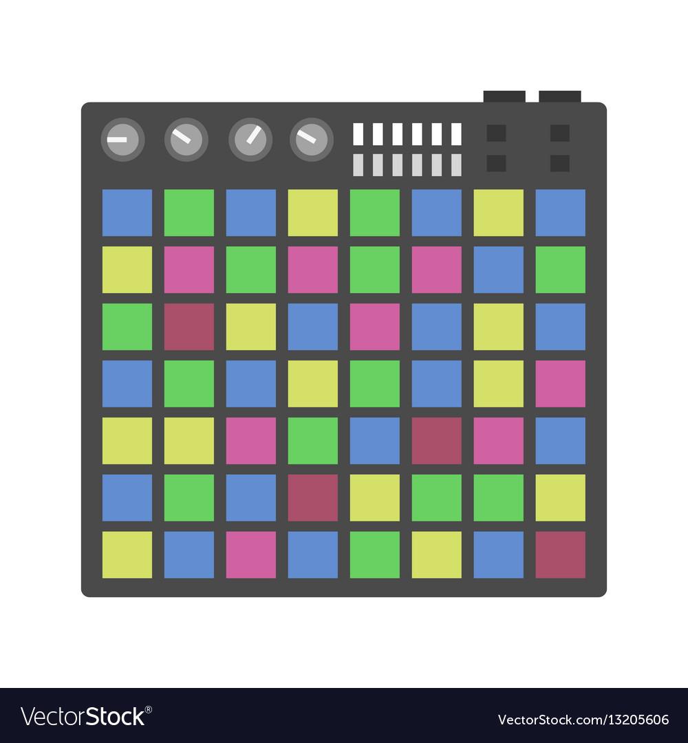 Creative modern musical instruments concept midi vector image