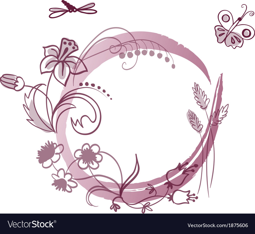 Floral frame with place for your text vector image