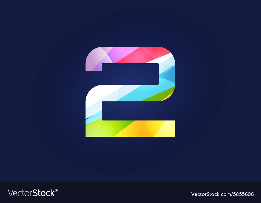Two 2 letter logo icon symbol vector image