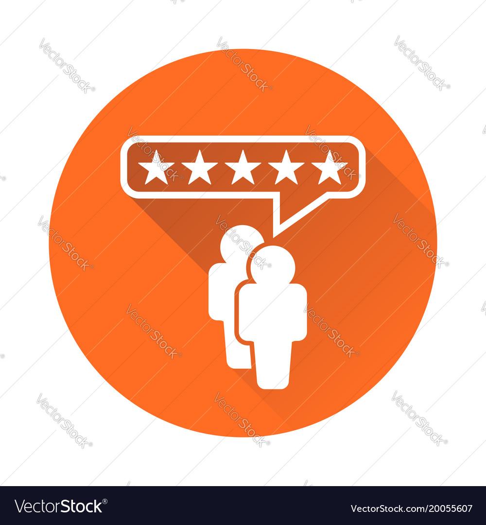 Customer reviews rating user feedback concept vector image