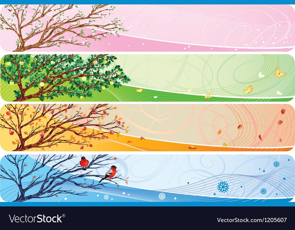 Seasonal banner vector image
