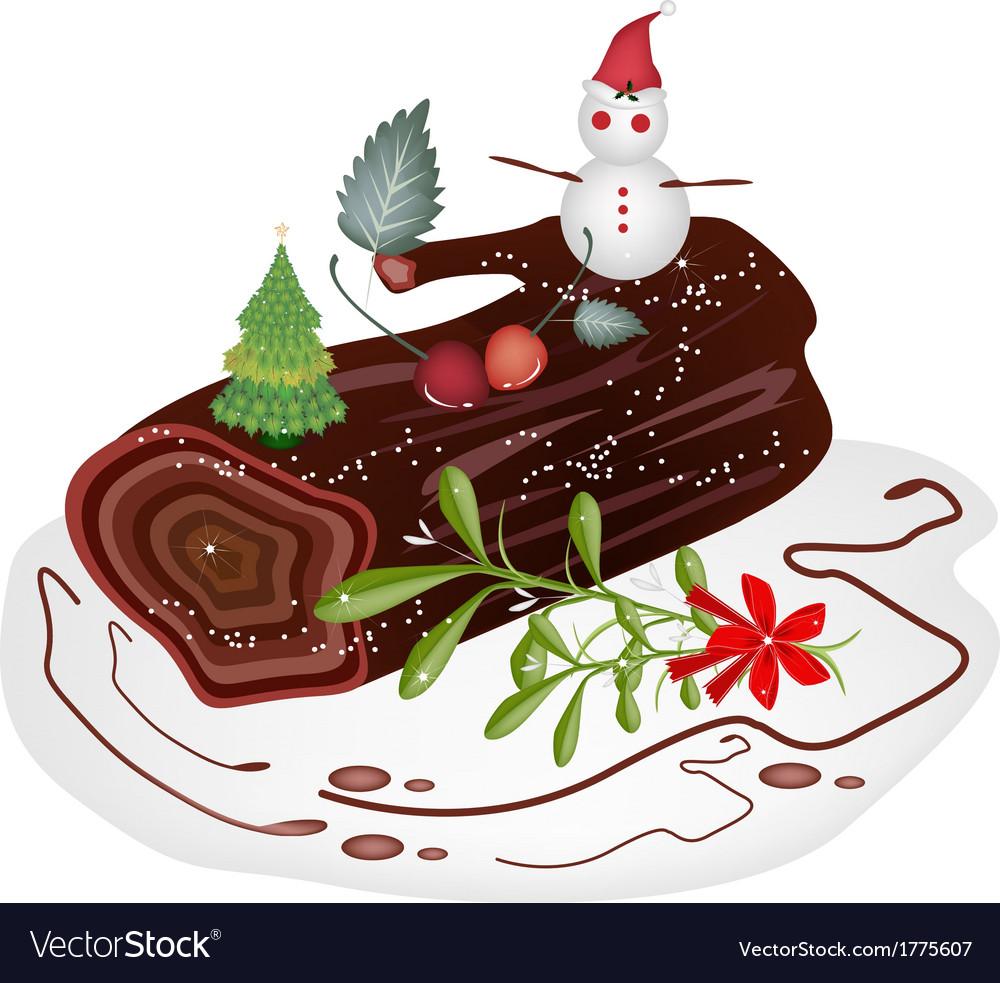Christmas Yule Log Cake Clip Art Images