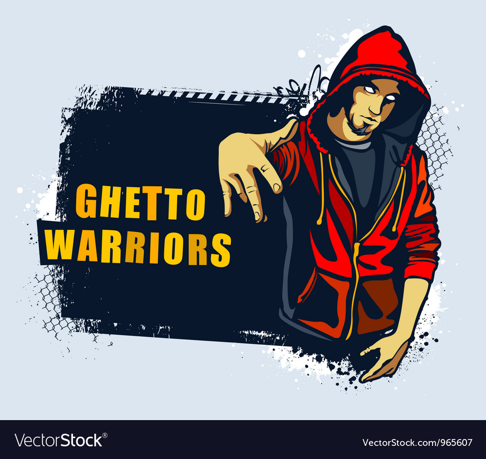 Young gangster vector image