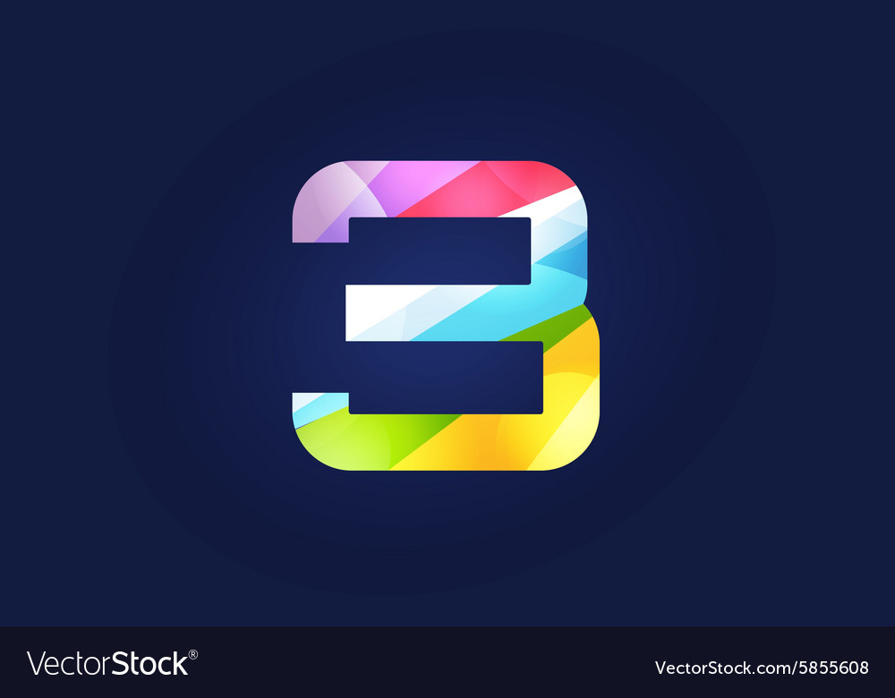 three 3 letter logo icon symbol vector image