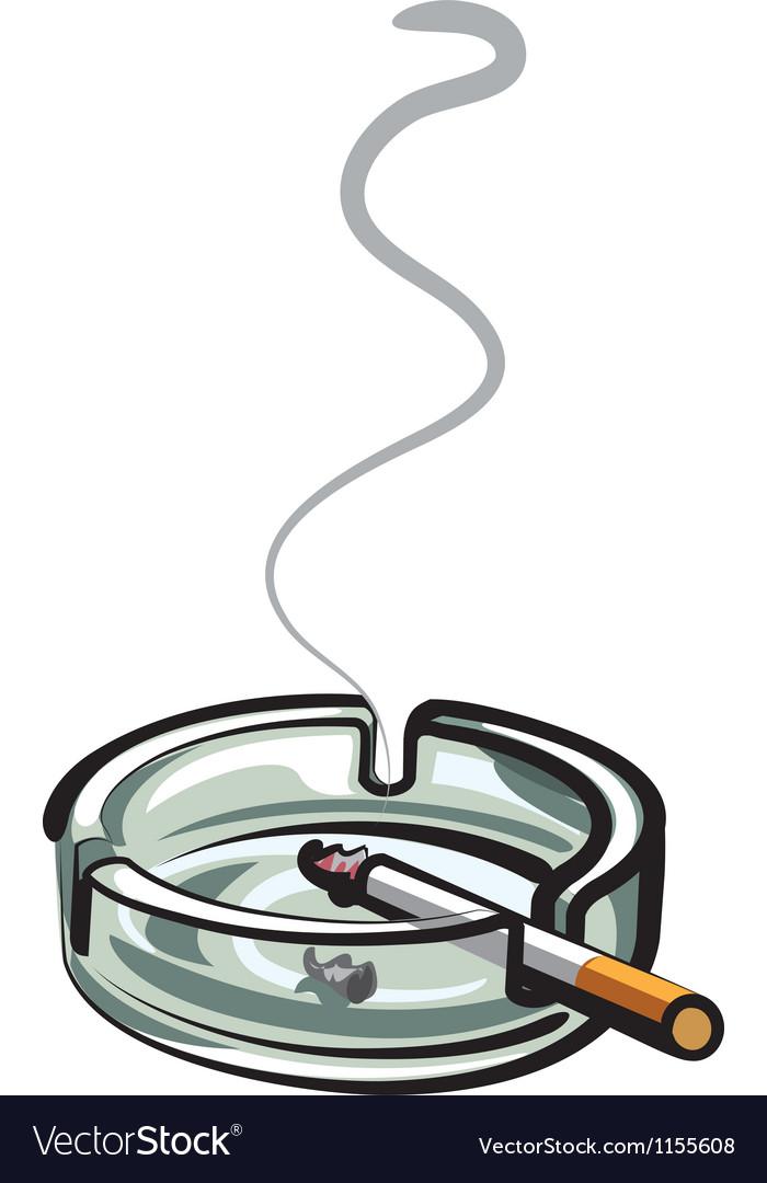 Cigarette in ashtray vector image