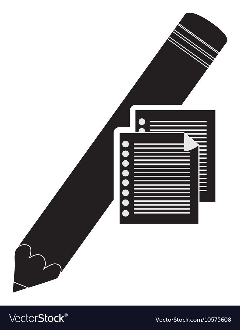 Pencil and documents icon vector image
