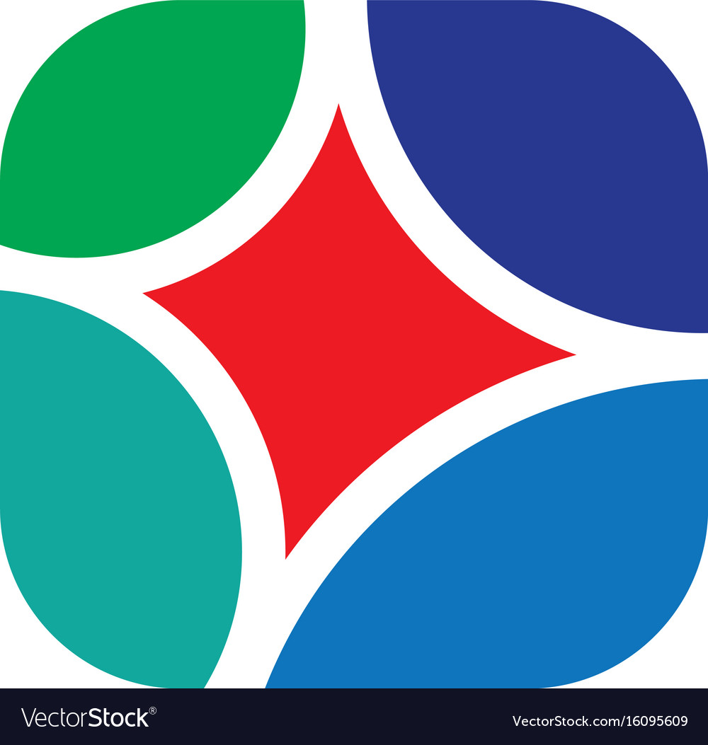 Abstract square business logo vector image