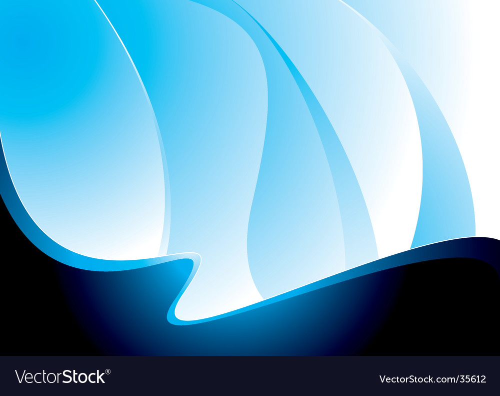 Wave blue swell vector image
