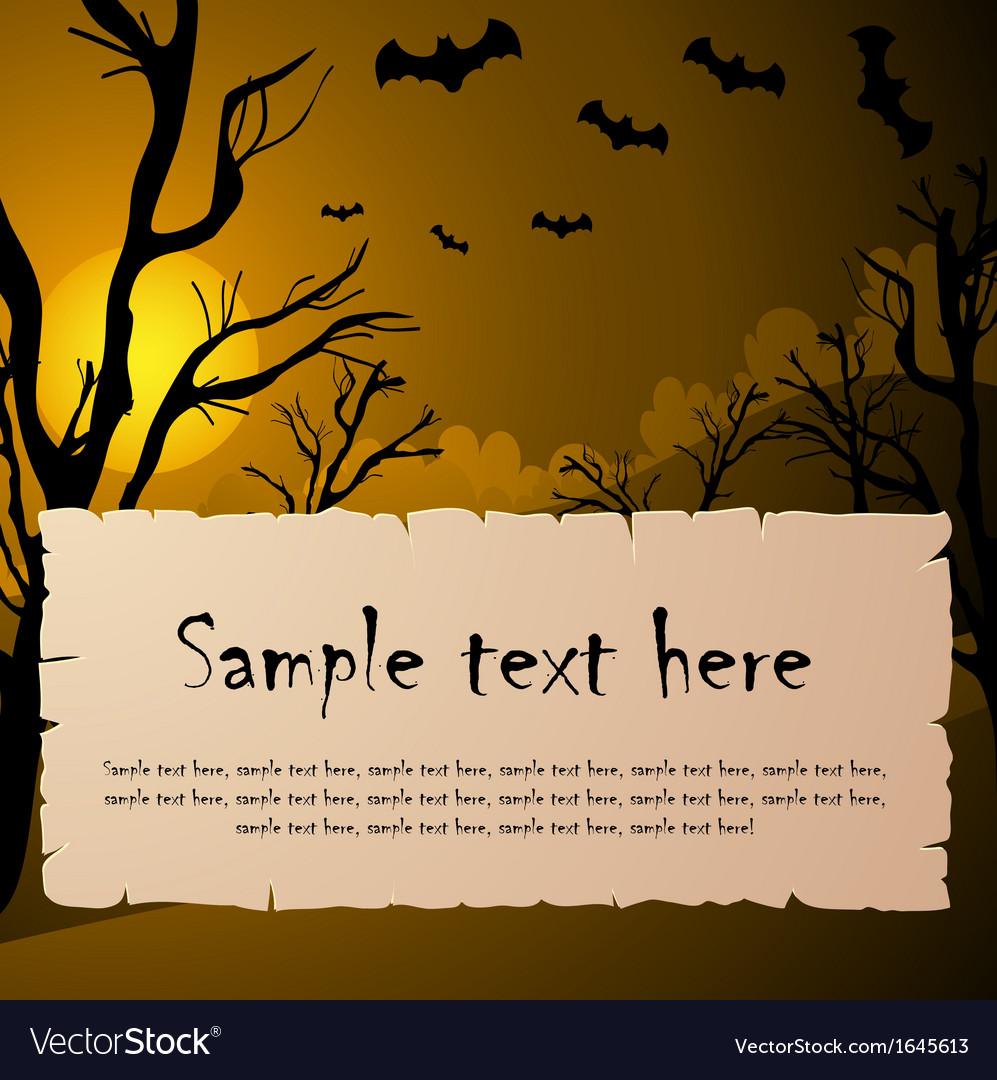 Halloween text frame vector image