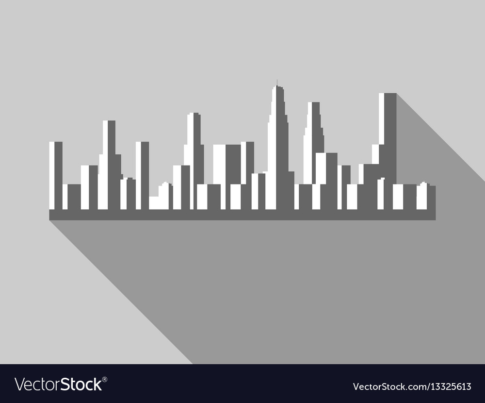 Panorama of city with skyscrapers in a flat style vector image