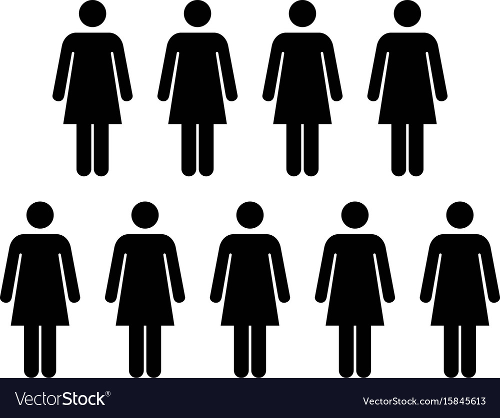 People icon - group of women team vector image