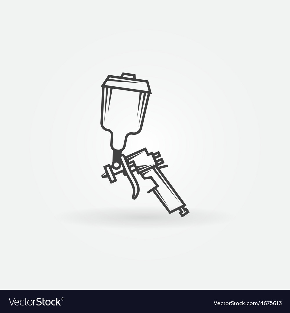 Spray gun logo vector image