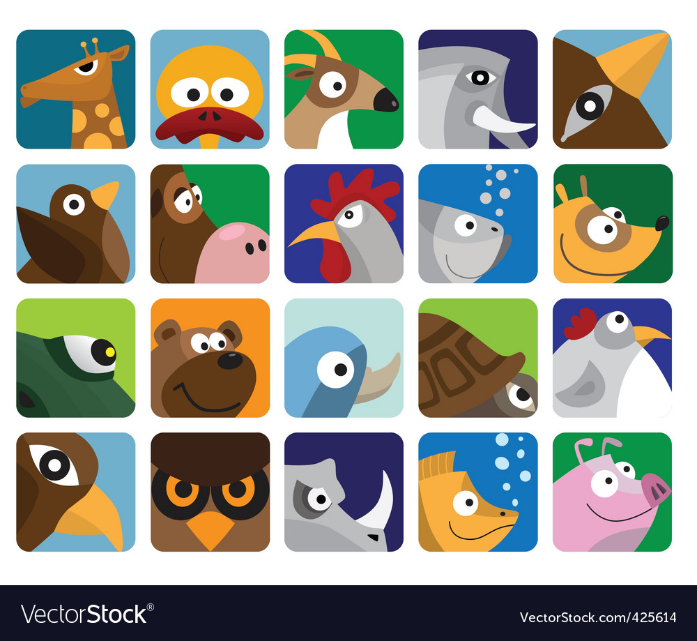 Animal icon pack Royalty Free Vector Image - VectorStock