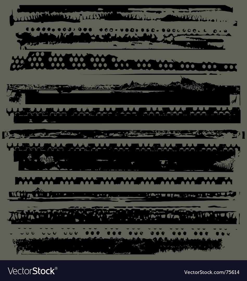 Photographic edges broken vector image