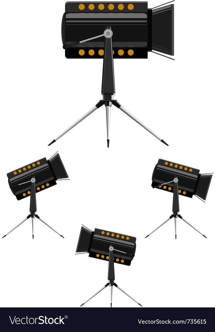 Image spotlights vector image