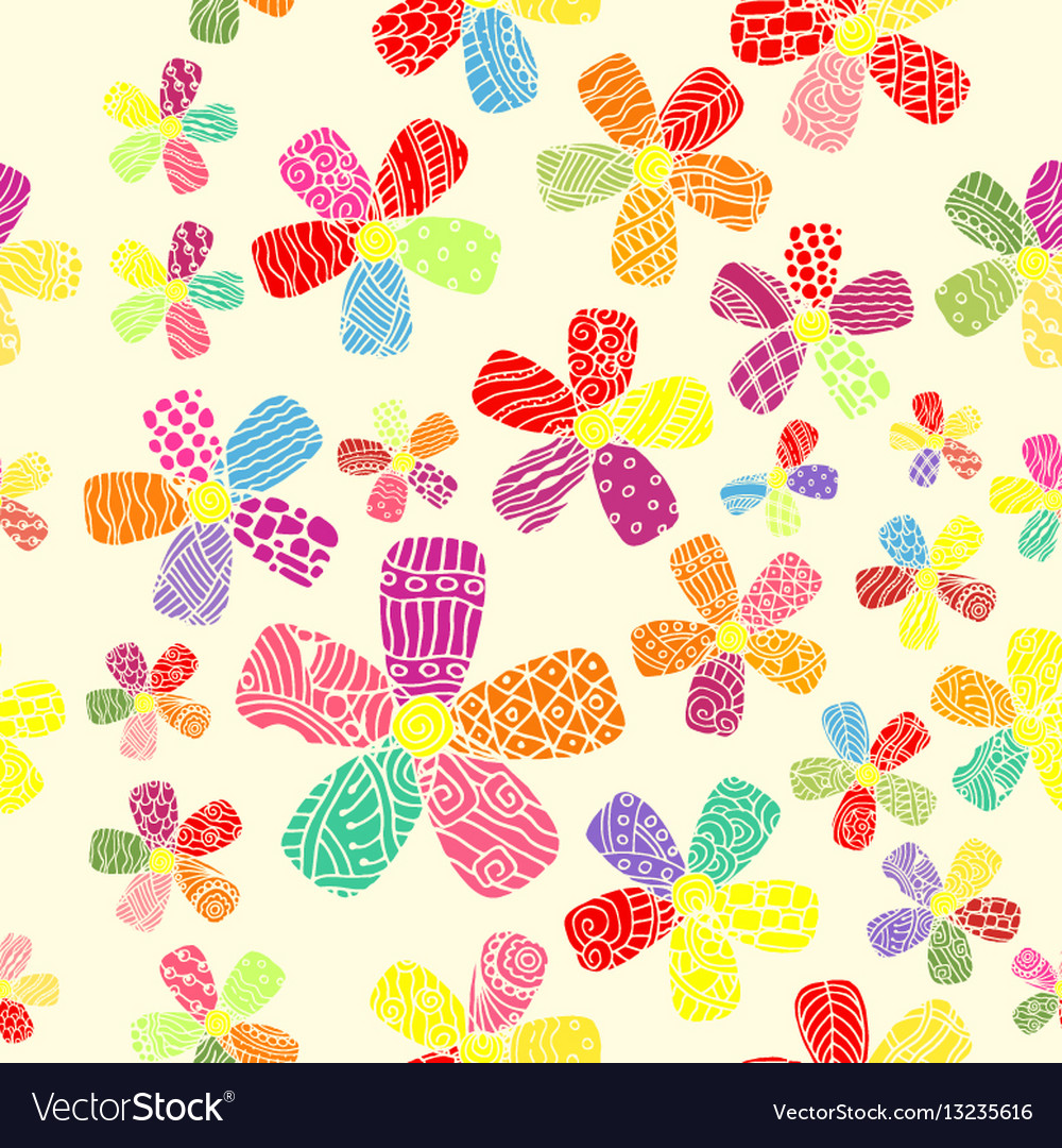 Pattern 60s seamless background inspired vector image