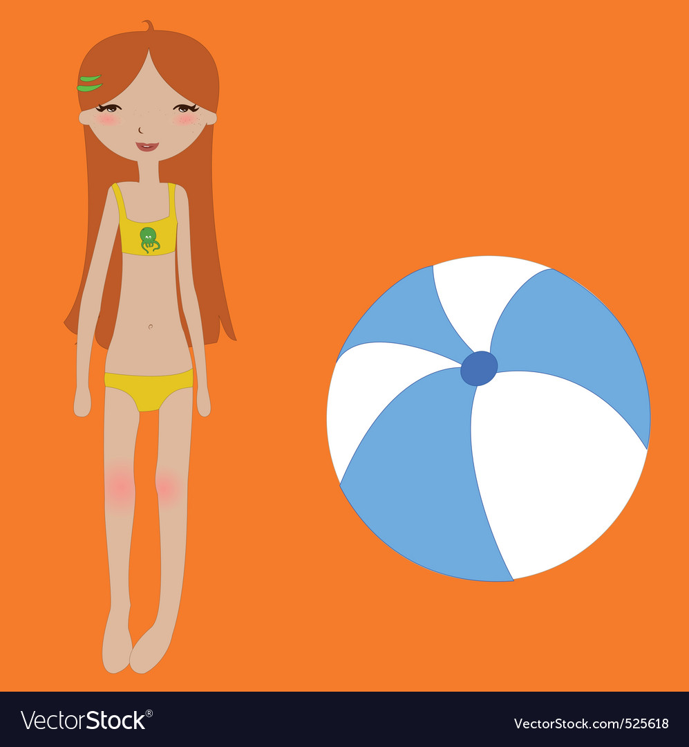 Funny summer background vector image