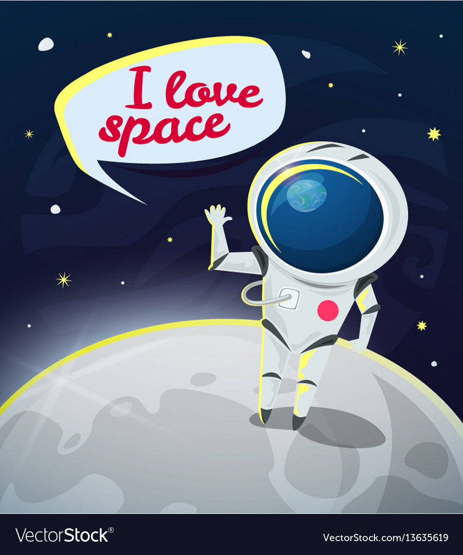 I love space vector image