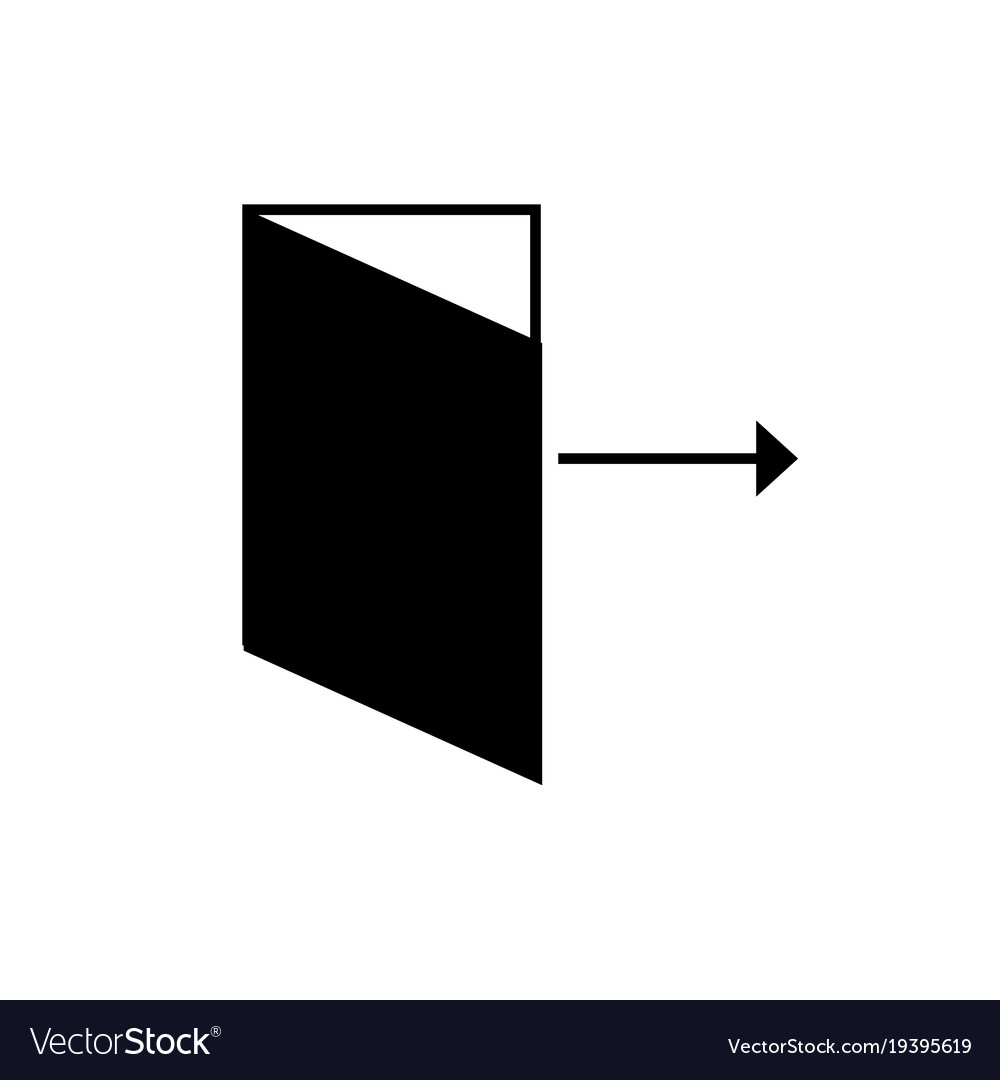 Log out icon vector image