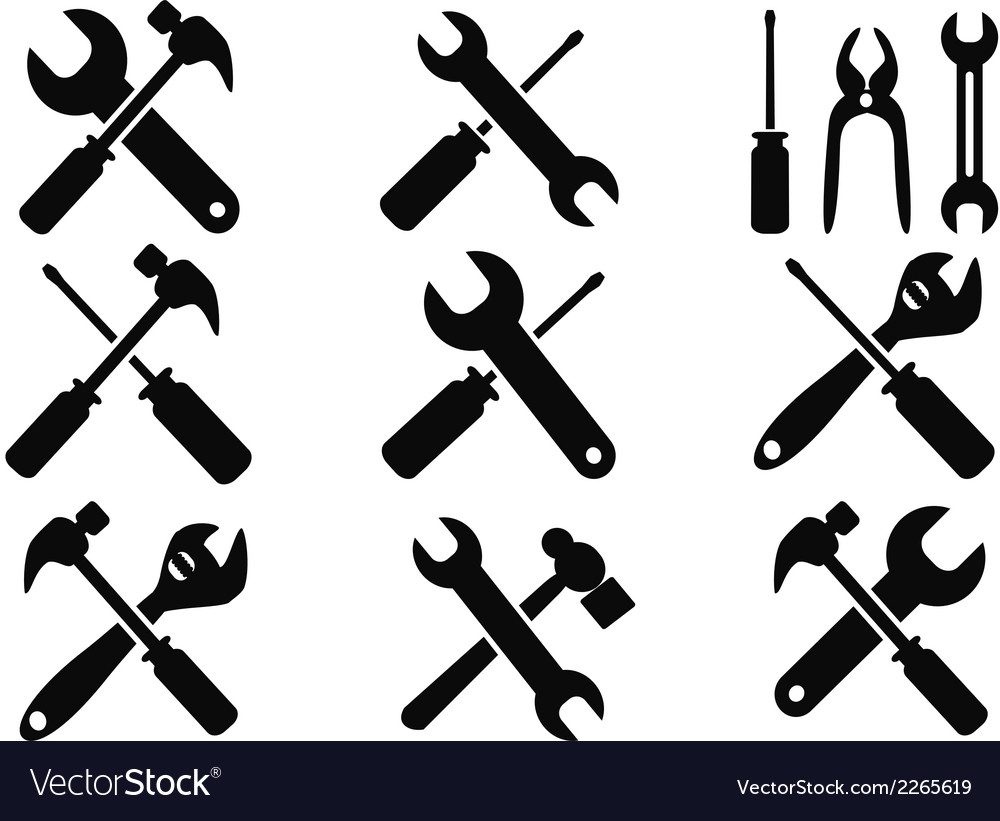 Repair tool icons set vector image