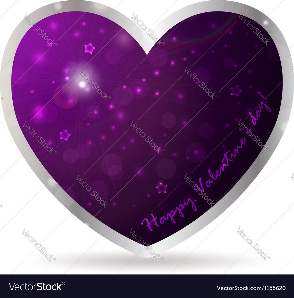 Purple heart royalty free vector image vectorstock purple heart vector image buycottarizona