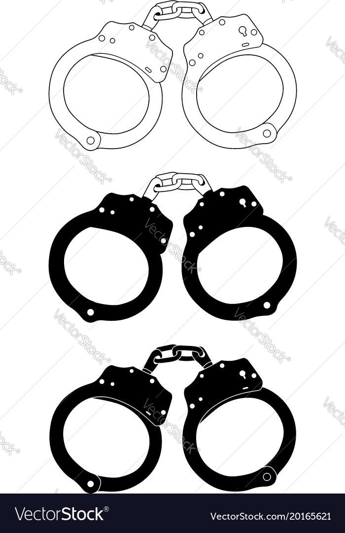 Handcuffs1 vector image