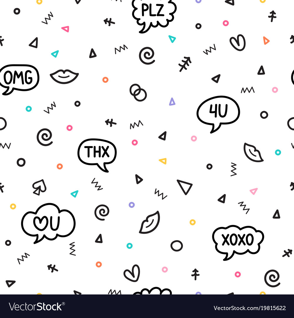 Abstract seamless pattern with different design vector image