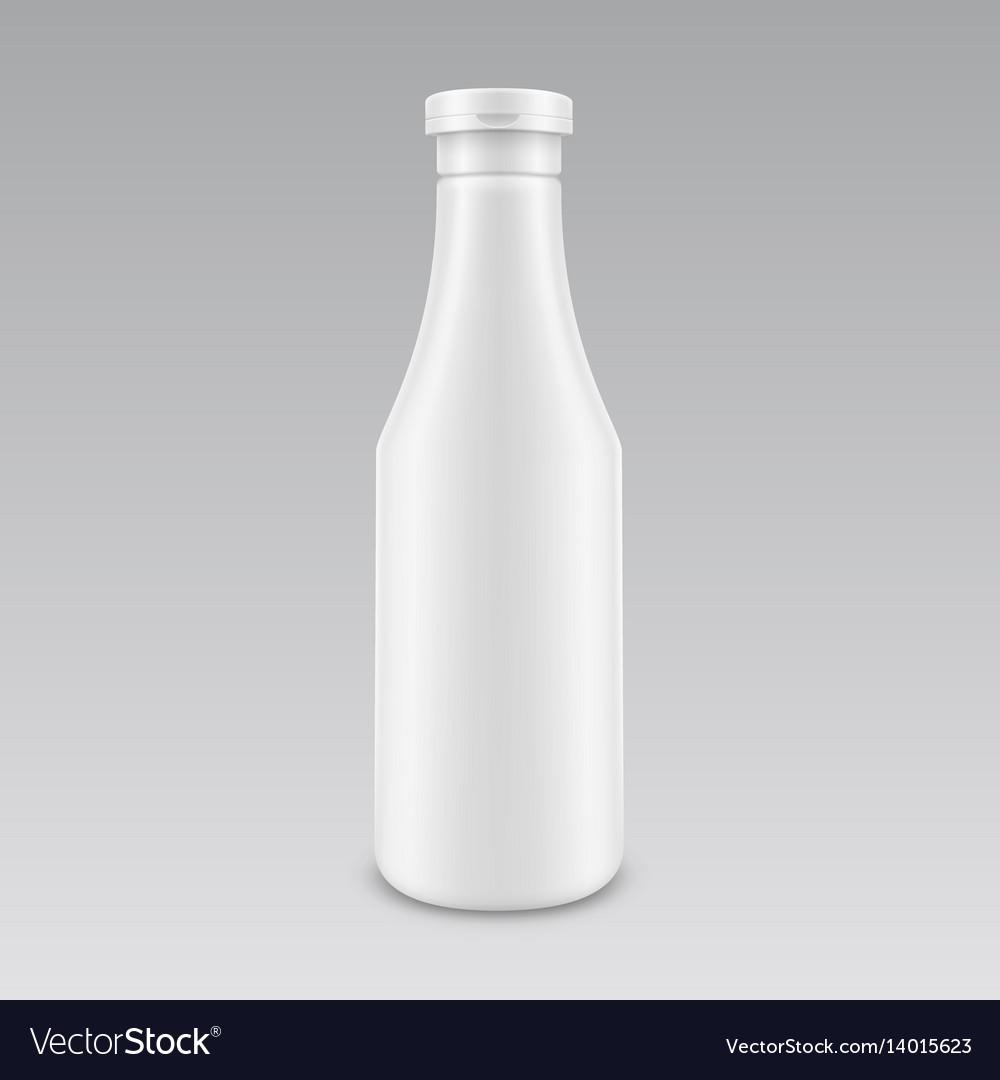 Plastic white mayonnaise mustard ketchup bottle vector image