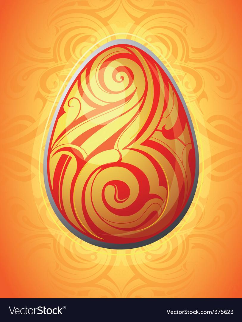 Tribal Easter egg vector image