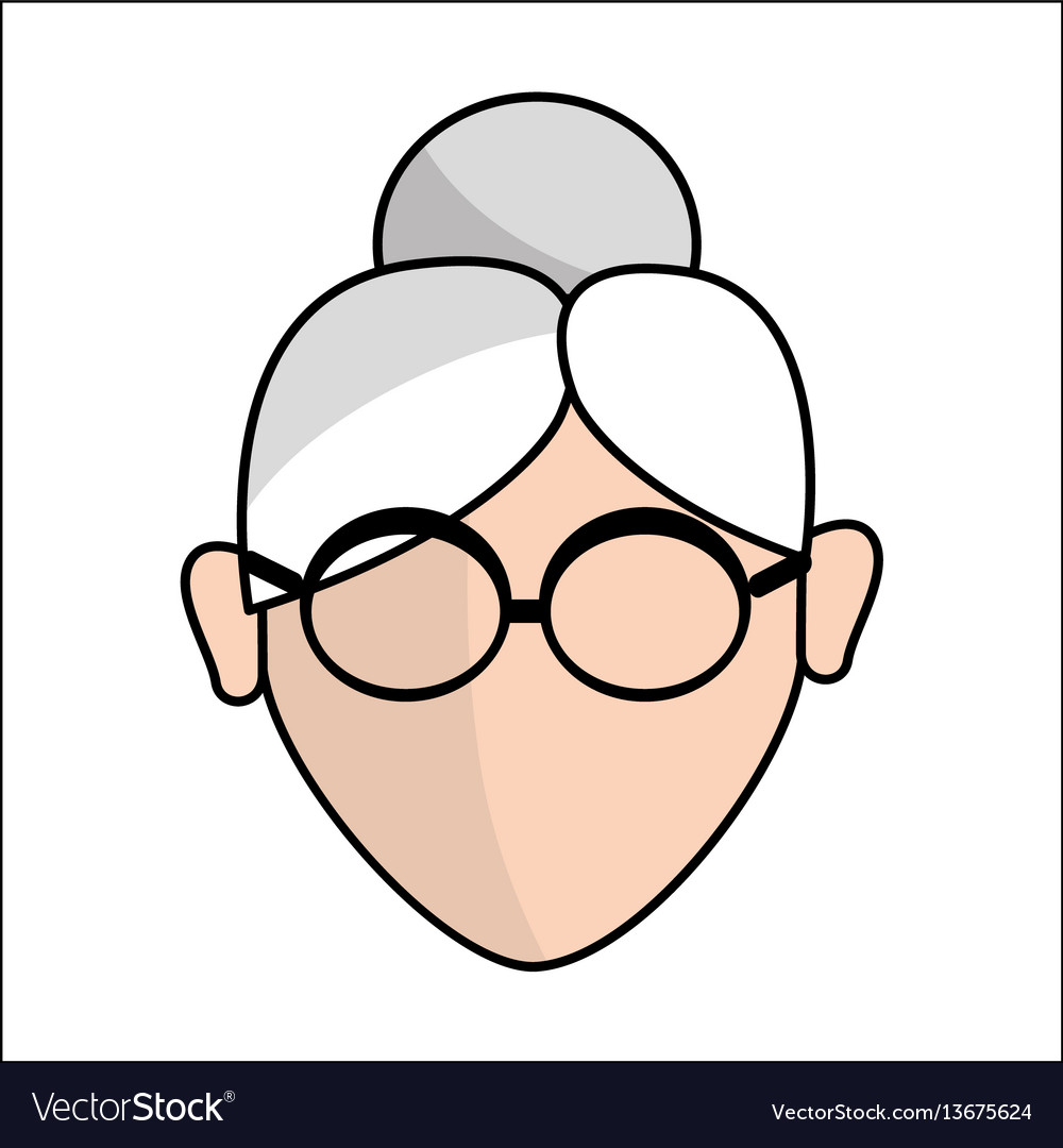 People avatar face women with glasses icon vector image