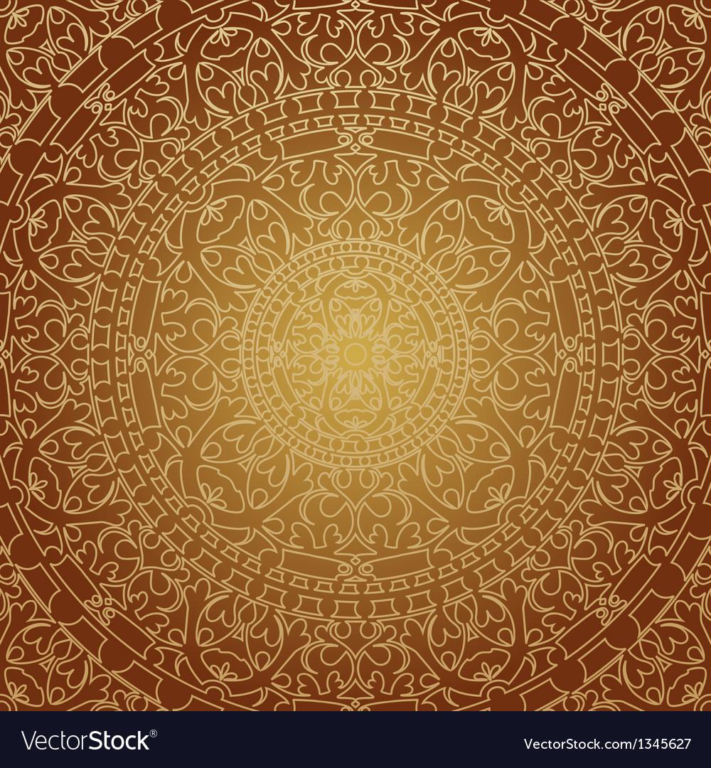 Oriental brown decoration vector image