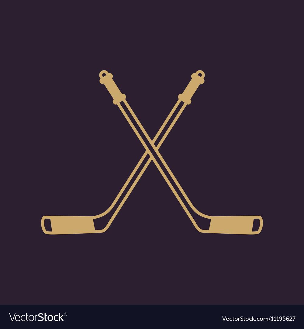 Hockey icon Sport symbol Flat vector image
