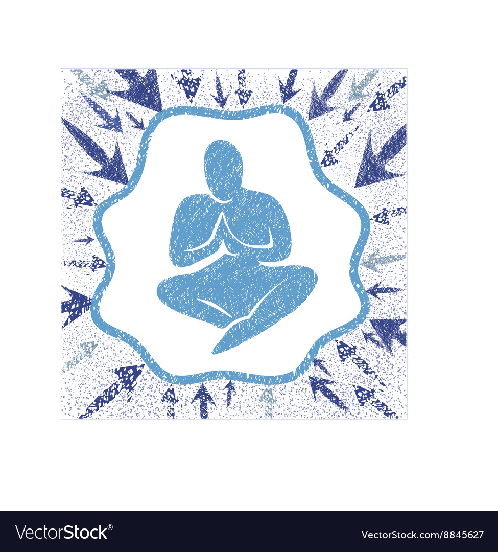 Man in prayer under the invisible dome vector image